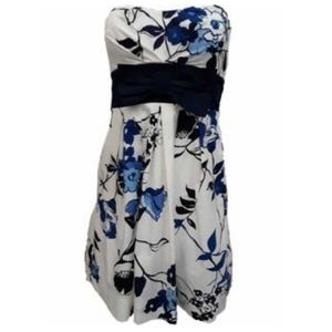 Speechless Junior White Blue Floral Party Dress